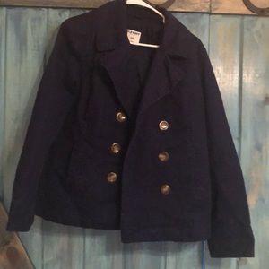 Women's navy blue pea coat